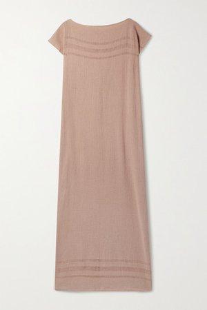 Saay Cotton-gauze Maxi Dress - Antique rose