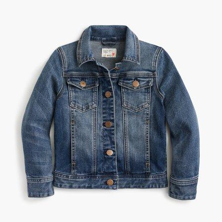 J.Crew: Girls' Stretch Denim Jacket