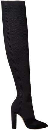105 Perforated Stretch-knit Over-the-knee Boots