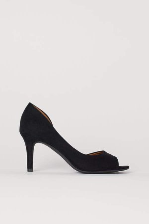 Peep-toe Pumps - Black