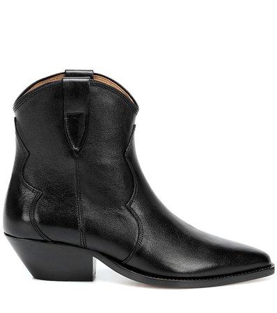 Dewina Leather Ankle Boots - Isabel Marant | Mytheresa