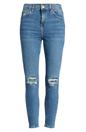 Topshop Jamie High Waist Ripped Jeans | Nordstrom