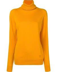 turtleneck sweater orange