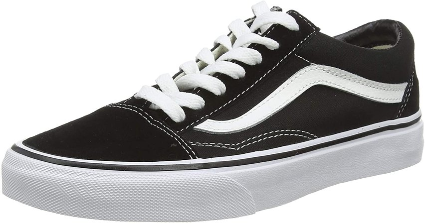 Amazon.com | Vans Old Skool Unisex Adults' Low-Top Trainers, Black/White, 5.5 Women/4 Men | Shoes