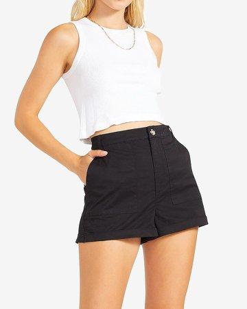 Bb Dakota High Waisted Black Shorts
