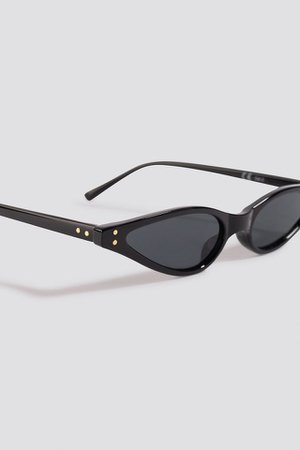 Kate Slim Cat Eye Sunglasses Sort | na-kd.com