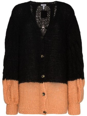 Loewe colour-block cable-knit Cardigan - Farfetch