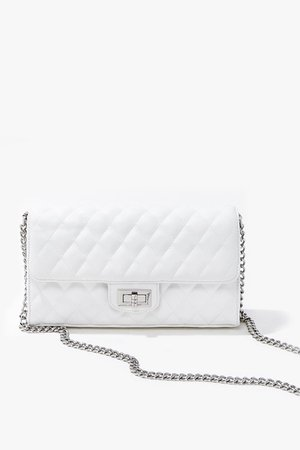 Quilted Faux Leather Crossbody Bag   Forever 21