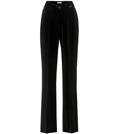 Balenciaga - High-rise jersey pants   Mytheresa