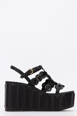 Braided Detail Wedge Sandals