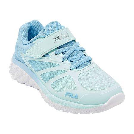 Fila Speedstride 4 Strap Little Kids Girls Running Shoes, Color: Turquoise Purpl - JCPenney