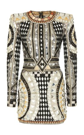 Balmain Stud Embroidered Dress