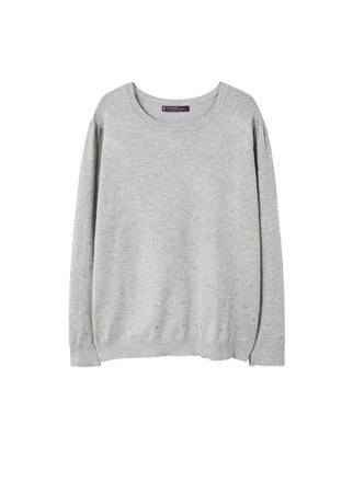 Violeta BY MANGO Metallic polka dot sweater