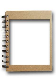 Spiral Notebook Frame Clipart - Pinterest