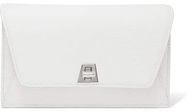 Anouk Envelope Textured-leather Clutch - White