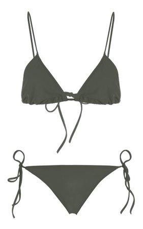 Stretch Triangle Bikini By Lido   Moda Operandi