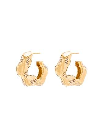 Joanna Laura Constantine Feminine Waves gold-plated Pearl Earrings - Farfetch