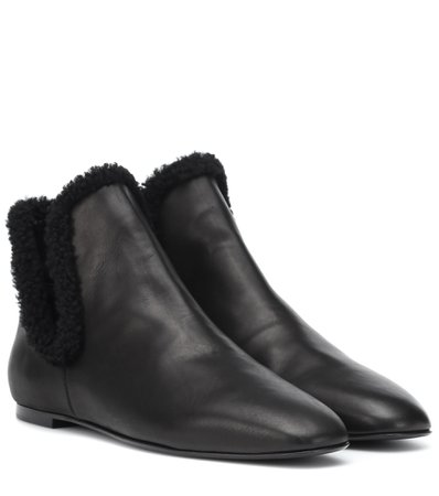 Eros Shearling-Lined Ankle Boots - The Row | mytheresa.com
