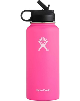 Hydro Flask Wide Mouth 32 oz. Bottle with Straw Lid, Pink