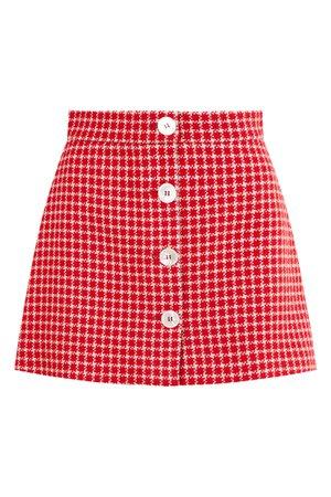 Красная юбка в клетку Miu Miu | Миу Миу купить в интернет-магазине Aizel.ru