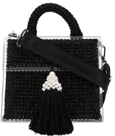 0711 Tassel Embellished Mini Tote Bag
