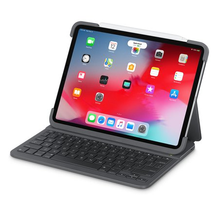 "Logitech Slim Folio Pro Case with Integrated Bluetooth Keyboard for 11"" iPad Pro - Apple"