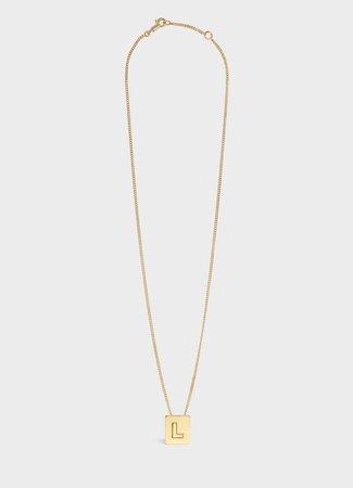 celine l necklace - Google Search