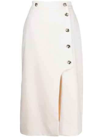 Shop Paul Smith high-waisted midi skirt with Express Delivery - Farfetch
