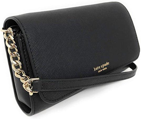 Amazon.com: Kate Spade New York Cameron Small Flap Crossbody Bag (Black), Large: Shoes
