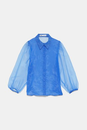 ORGANZA BLOUSE WITH FULL SLEEVES - View All-SHIRTS | BLOUSES-WOMAN | ZARA United States