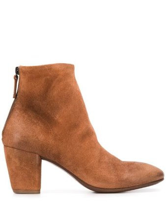 Brown Marsèll suede ankle boots - Farfetch