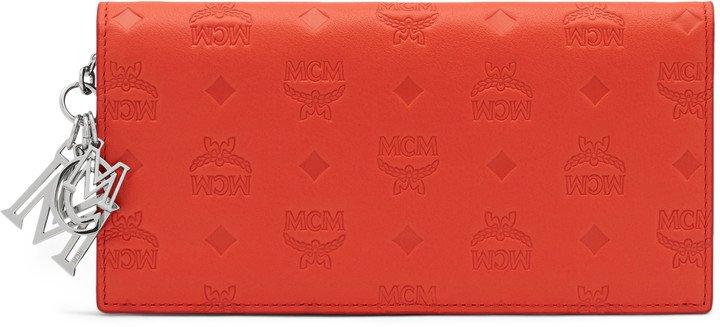 Klara Charm Monogrammed Leather Flap Wallet