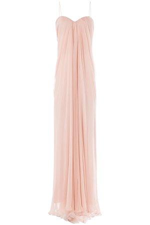 Draped Floor Length Silk Dress Gr. IT 40