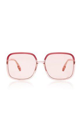 So Stellaire Square-Frame Acetate Sunglasses By Dior | Moda Operandi