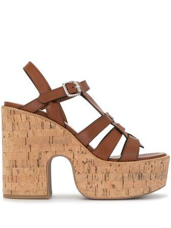Miu Miu cork platform sandals