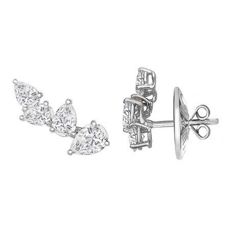 MYA diamond earrings, William & Son