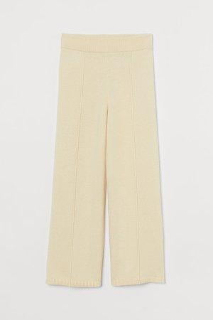 Merino Wool-blend Pants - Yellow