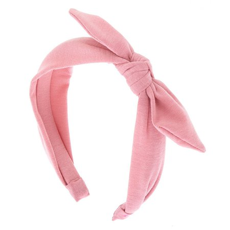 Knotted Bow Headband - Light Rose | Claire's US