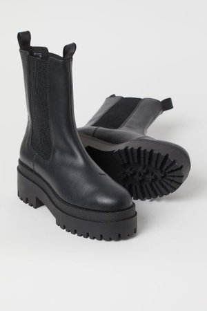 Platform Chelsea-style Boots - Black - Ladies | H&M US