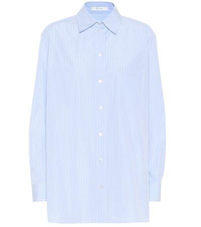 The Row, Rean Pinstriped Cotton Poplin Shirt