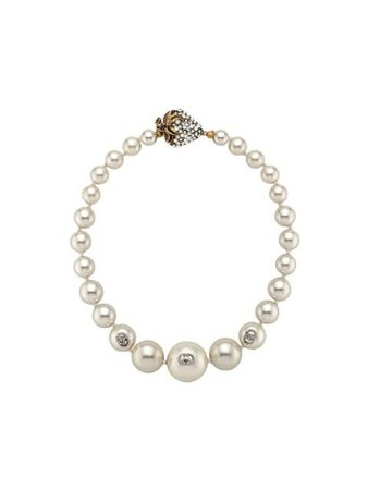 Gucci Faux Pearl Necklace 581875J1D51 White | Farfetch