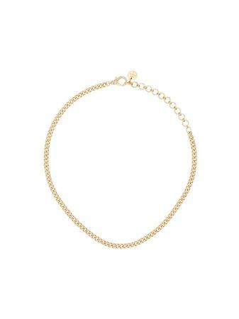 Shay 18Kt Yellow Gold Baby Link Pavé Diamond Choker Ss20 | Farfetch.com