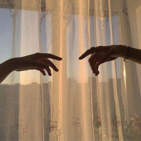 sunset glow aesthetic hands window light
