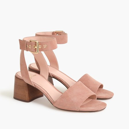 Penny Ankle-strap Sandals In Suede : | J.Crew