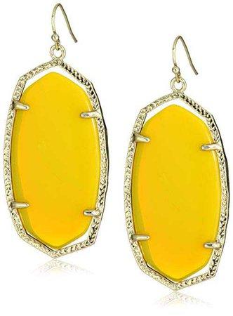 """Amazon.com: Kendra Scott""""Candy"""" Danielle Yellow Earrings: Drop Earrings: Jewelry"""