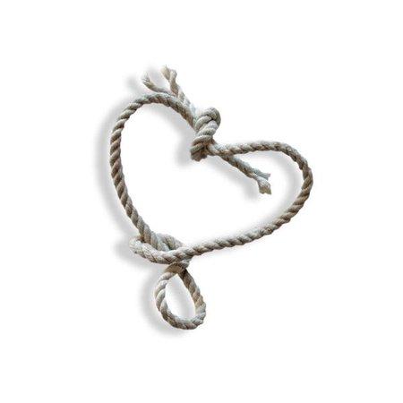 nautical beachy rope heart