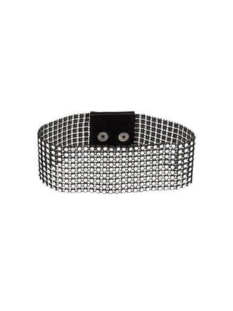 Shop black & metallic Manokhi crystal mesh choker with Express Delivery - Farfetch