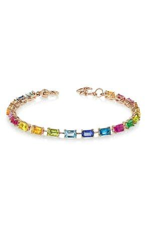 SHAY Rainbow Sapphire Tennis Bracelet | Nordstrom