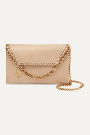 The Falabella Mini Faux Brushed-leather Shoulder Bag - Off-white
