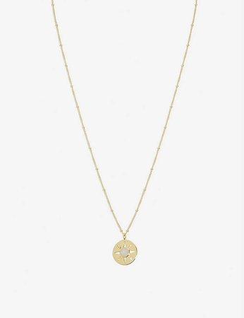 MISSOMA - Medallion 18ct gold-plated vermeil sterling silver necklace   Selfridges.com